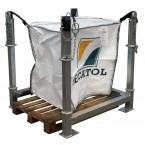 Basic galvanized big bag frame support