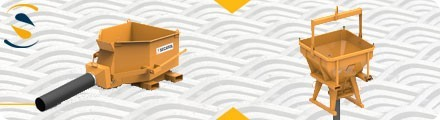 Concrete skip for telehandler