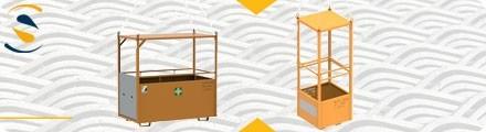 Crane man riding cage